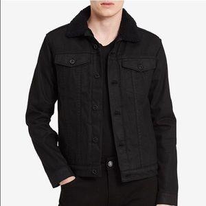 Calvin Klein Faux Sherpa Lined Denim Jacket